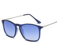 أعلى جودة أزياء نظارات للرجل امرأة إريكا نظارات مصمم العلامة التجارية الشمس نظارات مات ليوبارد العدسات التدرج مربع الحالات
