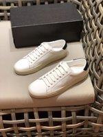 2021 탑 럭셔리 여성과 남자 코튼 캔버스 작은 흰색 인과 신발 SLP 레이스 Up Quality Unisex Sneakers 크기 36-44