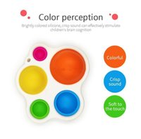 Newest Styles favors Baby Sensory Simple Dimple Toys Gifts Adult Child Funny Anti-stress Pop It Stress Reliver Push Bubble Fidget Toy DHL Free Shi