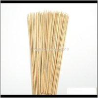 Herramientas Aesorías para cocinar al aire libre Comer Patio, Césped Inicio Jardín Drop Entrega 2021 Pinchazo de madera 40 cm Palitos de bambú Bambou Brochette Conflaja