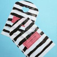 Cadeau cadeau 50pcs / lot Fashion Plastic Shopping Merci favoris Sacs Birthday Emballage Partie