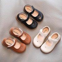 Primavera otoño niños cuero zapatos mary janes chicas hart en forma de corazón hueco out niños vestido bebé princesa plana