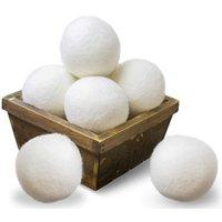 منتجات الغسيل كرات مجفف الصوف النسيج الطبيعي المنقي 100٪ العضوية Newzealand الصوف، مكافحة ساكنة، آمنة الطفل، أبيض للملابس