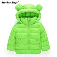 Sundae Angel Girl Jackets Chicas Outerwear Abrigos de manga larga Sólido Grueso Niños Bebé Bebé abajo Parkas Algodón Cálido Ropa de Niños Y1021