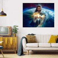Lumière du monde Grande Peinture à l'huile sur toile Accueil Décor Articles d'accueil / HD Imprimer Mur Art Pictures Personnalisation est acceptable 21071110