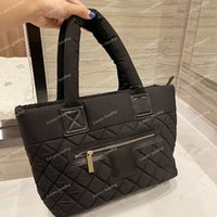 2021 Vintage Cotton Classic Brand Bag Daily Clutch Large Capacity Quilted Top Handle Totes Famous Luxury Designer Earl Fall Winter Ready To Wear Handbags 31*21cm