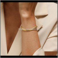 Bracelets Jewelrymodyle Gold Color Charms Bracelet Fit Original Chain For Women Jewelry Bangle Gift1 Drop Delivery 2021 Jk2Yh