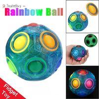 Luminous Stress Reliever Magia Bola Rainbow Divertido Puzzle Educação Brinquedo Para Crianças Adultos Fidget Toy Tiktok By03