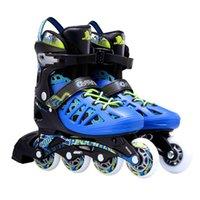 유니섹스 PU-Roller 인라인 스케이팅 신발 Speedroller 스케이트 스케이트 스 니 커 즈가 조정 가능한 캐주얼 속성 크기 크기 37-44 롤러