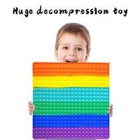 40 * 40cm super grande tamanho festa favor o arco-íris empurre bolha pop enorme decompressão inquieta brinquedos adultos crianças anti stress releiver jogos de tabuleiro colorido