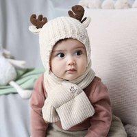 스카프는 물리적 인 슈팅 앤 겨울 어린이의 카카낙 따뜻한 스카프 가을 아기 엘크 니트 모자 2086