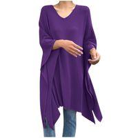 Women's Blouses & Shirts Summer Women Blouse Solid Girl Irregular Loose Blusas Female Breathable Bat Sleeve Shirt Casual