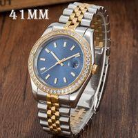 2021Mens relógios mecânicos automáticos Montre de luxo de aço inoxidável de aço inoxidável vidro 5 ATM impermeável super luminosos homens relógios de relógio de diamante