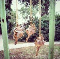 Bohemia Beach Ocean Shell Natural Conch кулон Ожерелье для женщин Мужчины Мода Ювелирные Изделия Летний Подарок Ожерелья Ожерелья