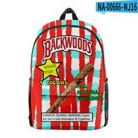 12 estilos Backpack de charuto de backpack de charuto de tecido de Oxford saco de impressão laptop saco de viagem de ombro para meninos homens dhl transporte rápido