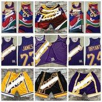 LosMeleklerLakeErkekler Basketbol Şort Sadece Don Mitchell Ness Erkekler Cep Retro Pantolon Jersey S-3XL