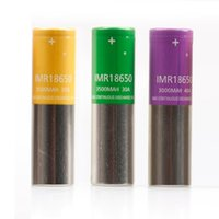 قابلة للشحن IMR 18650 البطارية الأرجواني الأخضر الأصفر الجلد شقة أعلى بطاريات ليثيوم 3000 مللي أمبير 3500 مللي أمبير 3500 مللي أمبير 30A 40A 40A تفريغ الخلايا mod vape