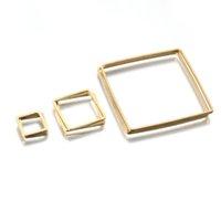 Connettori quadrati in ottone crudo Connettori a goccia Orecchini a goccia Ciondoli Charms Resina Stampo componenti Link Accessori fai da te per i risultati dei gioielli