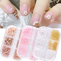 6 grilles / boîte sirène sirène scintillant ongles perles d'art strass décoration nailles charmes gemme alliage perles de gel uv accessoires pour la beauté des filles