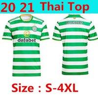20 21 Big Size S-4XL McGregor Griffiths Mens Soccer Jerseys Celtic Sinclair Forrest Brown Rogic Christie Home Manica Camicie da calcio