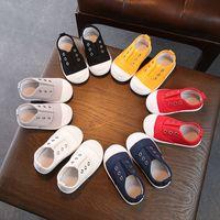 Children's 2021 spring kindergarten indoor girl's canvas casual boys loafer shoes