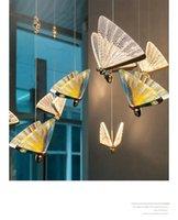 Butterfly Chandelier Bedside Lamp Master Bedroom Light Luxury Long Line Simple Dining Room Table Bar