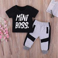 Pudcoco meninos roupas 2pcs criança crianças bebê menino t-shirt tops calças roupas definir roupas 1-6t 1351 y2