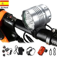 Modalità 2500 lumen 5 LED Lampada perline perline anteriore Bicicletta Light Light Bike Torch + Lampada posteriore + Luci per fascia