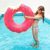الشاطئ مقعد حلقة لعبة العوامة فراش سميكة PVCF دائرة في الهواء الطلق الأنشطة نفخ دونات حمام السباحة