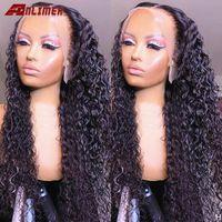 Lace Wigs Deep Water Wave 13x4 Frontal Wig Human Hair Curly Glueless Brazilian 180% Density 4x4 5x5 Silk Base Closure