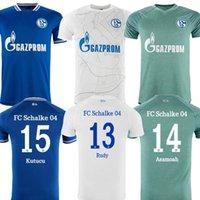 2021 FC Schalke 04 Soccer Jersey Huntelaar Uth Raman Hoppe Bentaleb 20 21 Jerseys Kutucu McKennie Men Football Shirt