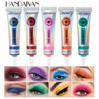 Handaiyan 12 Цветов Матовый неоновый крем для век, высокий пигмент Легко применить лето желтый розовый глаз тени тени