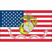 Großhandel Fabrikpreis 100% Polyester 90 * 150 cm 3x5 fts United States Marine Corps Flagge für Dekoration OWB6003