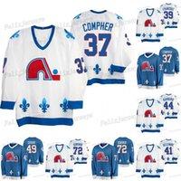 49 Samuel Girard Quebec Nordiques Heritage 72 Joonas Donskoi Mark Barberio Pierre-Edouard Bellemare Pavel Francouz J. T. Compher Jersey