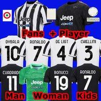 fãs versão jogador camisa futebol 2021 2022 RONALDO DYBALA MORATA CHIESA McKENNIE camisa juventus kit futebol 21 22 JUVE Masculino + infantil conjunto meias goleiro