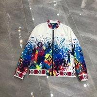2021ss spring and summer new high grade cotton shirt Men's hoodie Suit pants Casual Fashion jacket Color stripe print sweatshirt Size: s-xxxl Color: black white 691