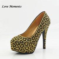 Muilti couleur strass chaussures de mariage léopard Haute femme Plate-forme de talon Plus Taille 34-43 Robe de soirée Femme