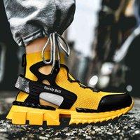 تنفس الأحذية الرياضية تحلق شبكة الأسلاك الاحذية الرجال عالية أعلى جورب رياضة توسيد المدربين اللياقة البدنية zapatillas