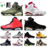Nike air jordan 6 6s travis scott jordan retro 6 أحذية كرة السلة الرياضة أحذية رياضية المدربين أسود الأشعة تحت الحمراء هير كارمين الكهربائية الخضراء التكنولوجيا كروم متر