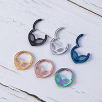 1pc Hoop Septum Nose Ring Hinged Clicker Segment Cartilage Earring Eyebrow Piercing Ear Stud Tragus Helix Body Jewelry 16G