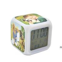 DIY 열 전송 광장 LED 터치 장난감 화면 알람 다채로운 빛나는 전자 색 변경 번호 프롬프트 시계 밤 HWD8847