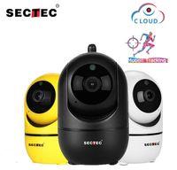 SECTEC 1080P Caméra IP sans fil Caméra IP Intelligent Suivi automatique de la surveillance de la sécurité Human Home Sécurité CCTV Network WiFi Cam