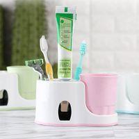 Lavaggio Accessori per il bagno Accessori per il bagno Spazzolino da denti Automatico Dentifricio Dentifricio Distributore Tazza Squeezer Bath Accessory Set