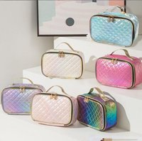 Cosmetic Bags Women PU Laser Colorful Large Capacity Waterproof Wash Bag Mix Color