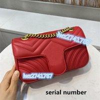 Neue Ankunft Made in echten Lederkupplung Geldbörse Handtasche Tasche Frau Tasche Umhängetasche Seriennummer innen