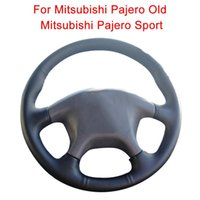 Customize Car Steering Wheel Cover For Mitsubishi Pajero Old SportLeather Braid Covers