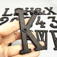 Andere Tür Hardware Metall Gusseisen Haus Zahlen und Buchstaben Zeichenplatte 3D 0-9 A-Z Café Wand Courtyard Dekor Kreative Adresse