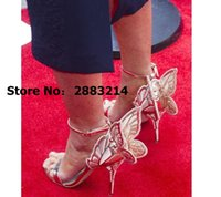 Muti-color Embroidery Genuine Leather Strappy Girls Butterfly Sandals Female Gladiator Shoes High Heels Pumps