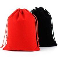 17x23cm Large Sac de cordon de cordon de mariage Favora de maquillage de maquillage de maquillage Packaing Velvet Pouch sac GWF6342