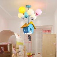 Pendant Lamps Modern Children Room Hanging Wood House Light Kid Princess Living Lights Fixtures WF1027